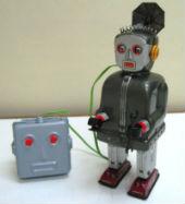 50s nomura- tin robot toys