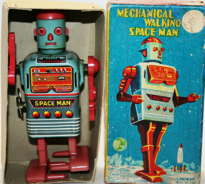 50s Walking Spaceman robot toy by Marx