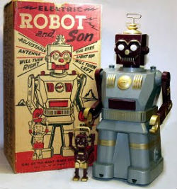 Marx Robot and Son Toy 1950s